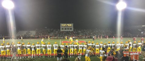 Stevenson prepares for the kickoff in what was their third straight victory.
