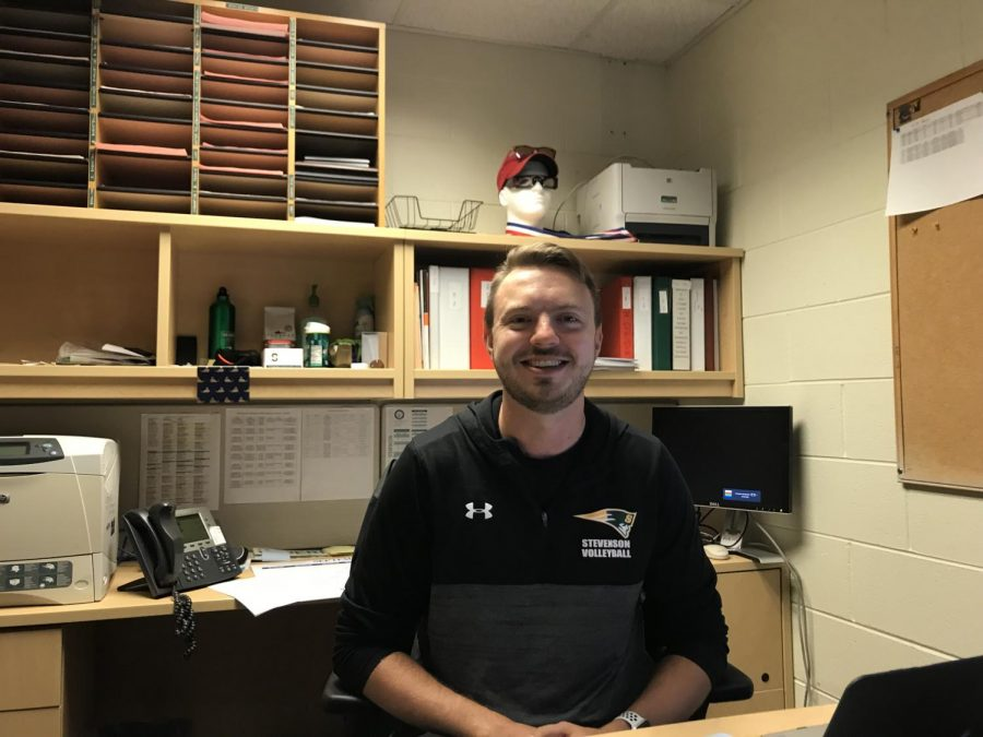 After playing volleyball at Ohio Northern University, he started coaching and coached for 15 seasons. He teaches health and this is his first year as an athletic director here.