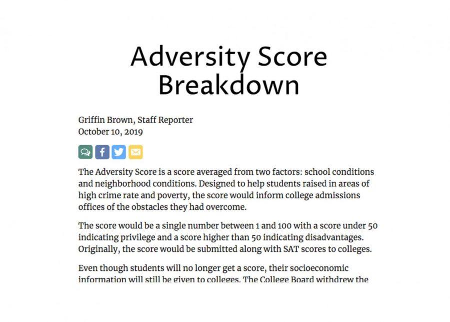 Adversity Score Breakdown