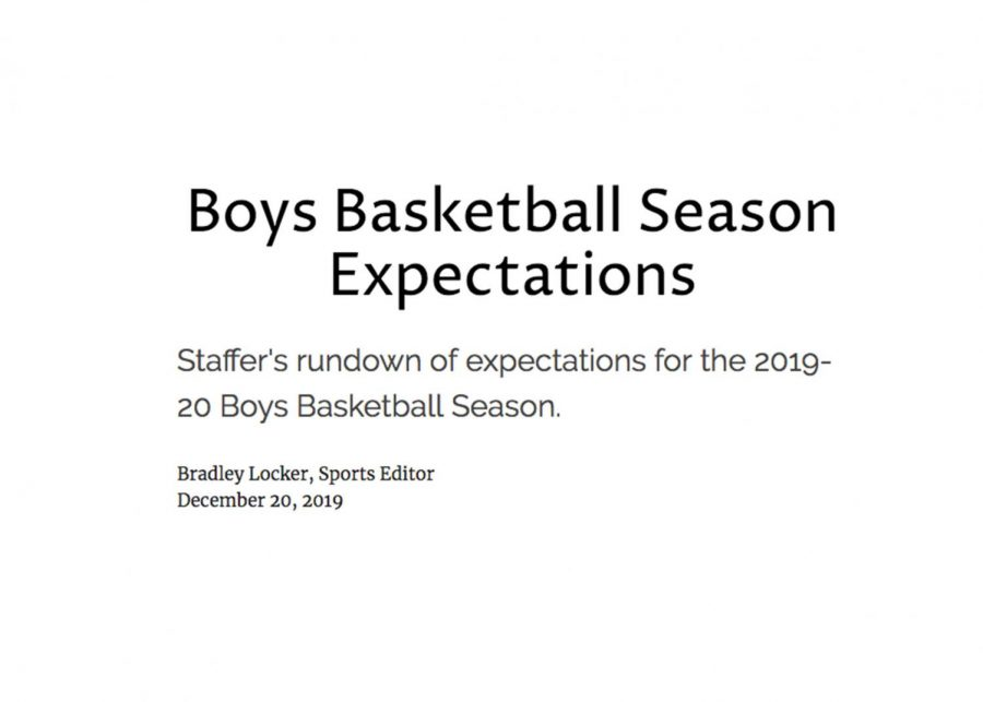 Boys Basketball Season Expectations