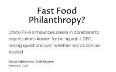 Fast Food Philanthropy?