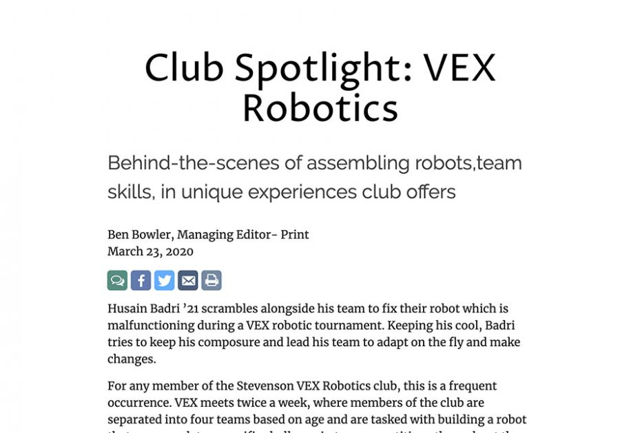 Club Spotlight: VEX Robotics