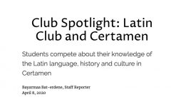 Club Spotlight: Latin Club and Certamen