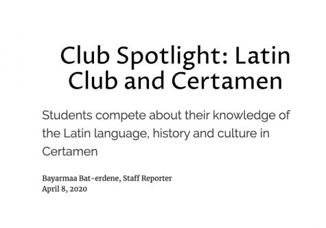 Club Spotlight: Latin Club and Certamen