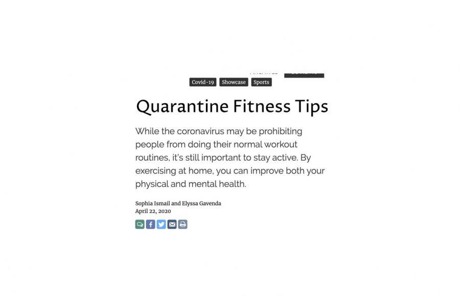 Quarantine Fitness Tips